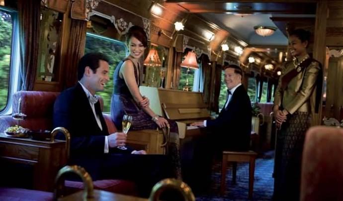 Voyage de noce sur un train de luxe